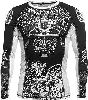 Hardcore Training Rash Guard Koi Men's – Compression Shirt Long Sleeve – No-Gi Jiu Jitsu MMA Grappling