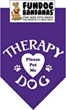 Therapy Dog Please Pet Me Bandana
