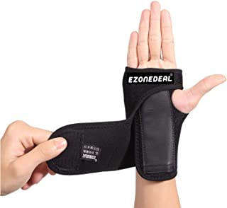 Breathable Wrist Brace Wraps Hand Support Compression with Fingers Stabilizer Pain Relief for Fitness Exercise Black (Righ...