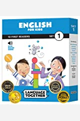 English for Kids: 10 First Words Reader Books with Online Audio and 100 Words (Beginning to Learn Colors, Shapes, Numbers, Animals, and More) Paperback