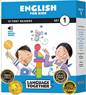 Language Together English: 10 First Reader Books for Kids with Online Audio (Early Reading Books) Set 1