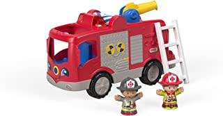 Fisher-Price FPV31 Little People Fire Brigade Interactive Vehicle with Sounds, Sentences and Songs Includes 2 Toy Figures,...