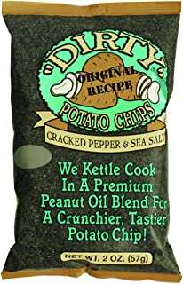 Dirty Potato Chips, Cracked Pepper and Sea Salt, 2 oz Bag (Pack of 25)
