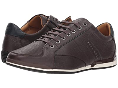 BOSS Hugo Boss Saturn Low Profile Sneaker by BOSS Green (Dark Brown) Men