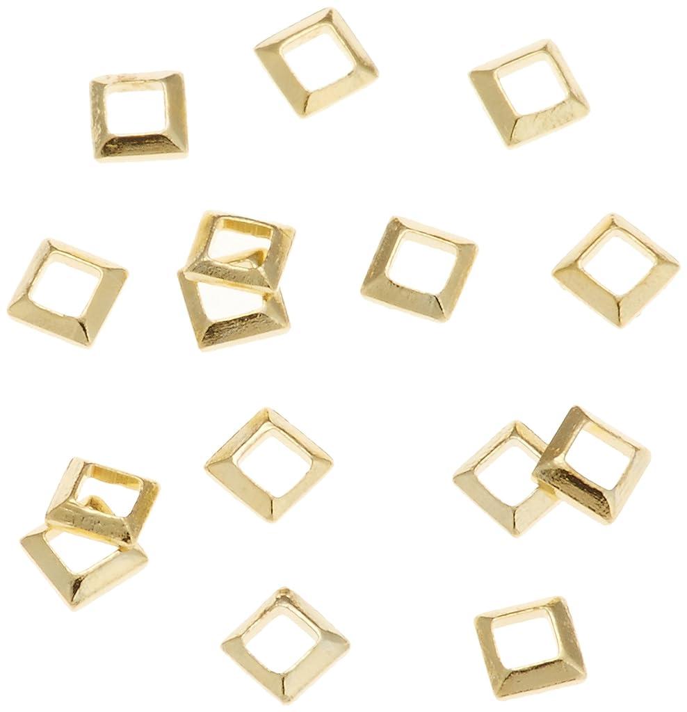 ベアリングサークル毎年さようならリトルプリティー ネイルアートパーツ スクエア スカシ ゴールド 50個