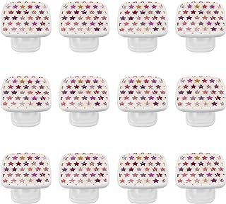 Boutons D'armoire 12 Pcs Poignés Poignée De Champignons Porte Poignées avec Vis pour Cabinet Tiroir Cuisine,Modèle d'étoil...