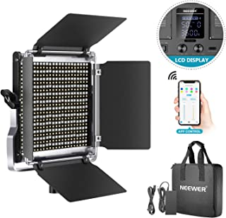 Neewer 528 Luz Video LED, Kit Iluminación Fotografía Bicolor Regulable con Sistema Control Inteligente App, Iluminación Vi...