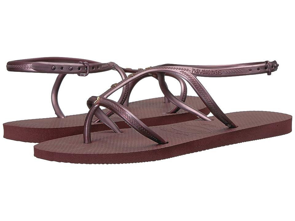 Havaianas Allure Maxi Flip-Flops (Grape Wine) Women