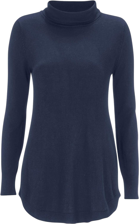 ellos Women's Plus Size Audrey Turtleneck Sweater Pullover