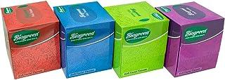Biogreen Soft Facial/Face Tissues, 2ply, 100 Pulls, Pack of 4 (Soft Cube Box Facial Tissues)