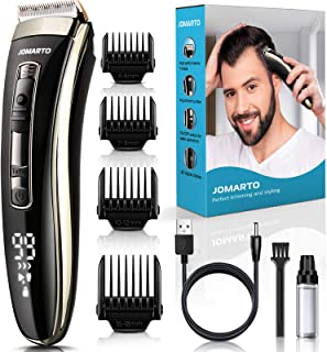Trimmer for Men,Hair Clippers, JOMARTO Professional Cordless Clippers Kit Electric for Barbers...