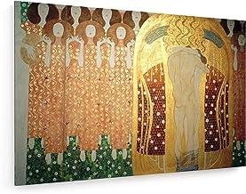 weewado Gustav Klimt - Friso de Beethoven - Detalle - 75x50 cm - Impresion en Lienzo - Muro de Arte - Canvas, Cuadro, Poster - Old Masters/Museum