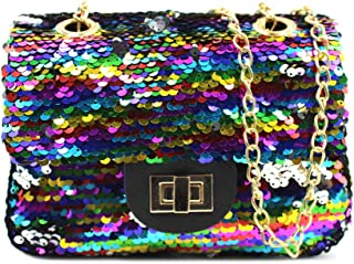Best multi color sequin purse Reviews
