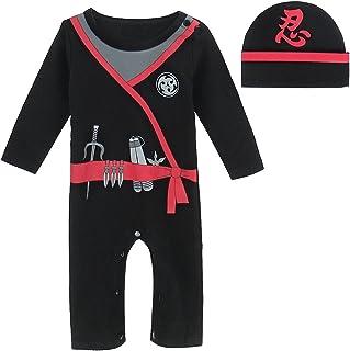MOMBEBE COSLAND Baby Jungen Karneval Kostüm Langer Strampler 3-18 Monate