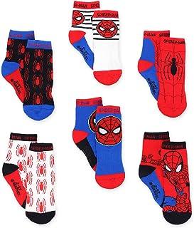 Marvel, Super Hero Adventures Spider-Man Boys Paquete de 6 calcetines con pinzas (bebé/niño pequeño)