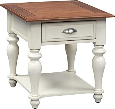 "Liberty Furniture Industries Ocean Isle Rectangular End Table, 24"" x 28"" x 24"", White"
