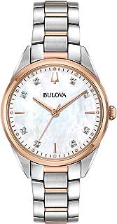 Bulova - Reloj Analógico para Mujer de Cuarzo con Correa en Acero Inoxidable 98P183