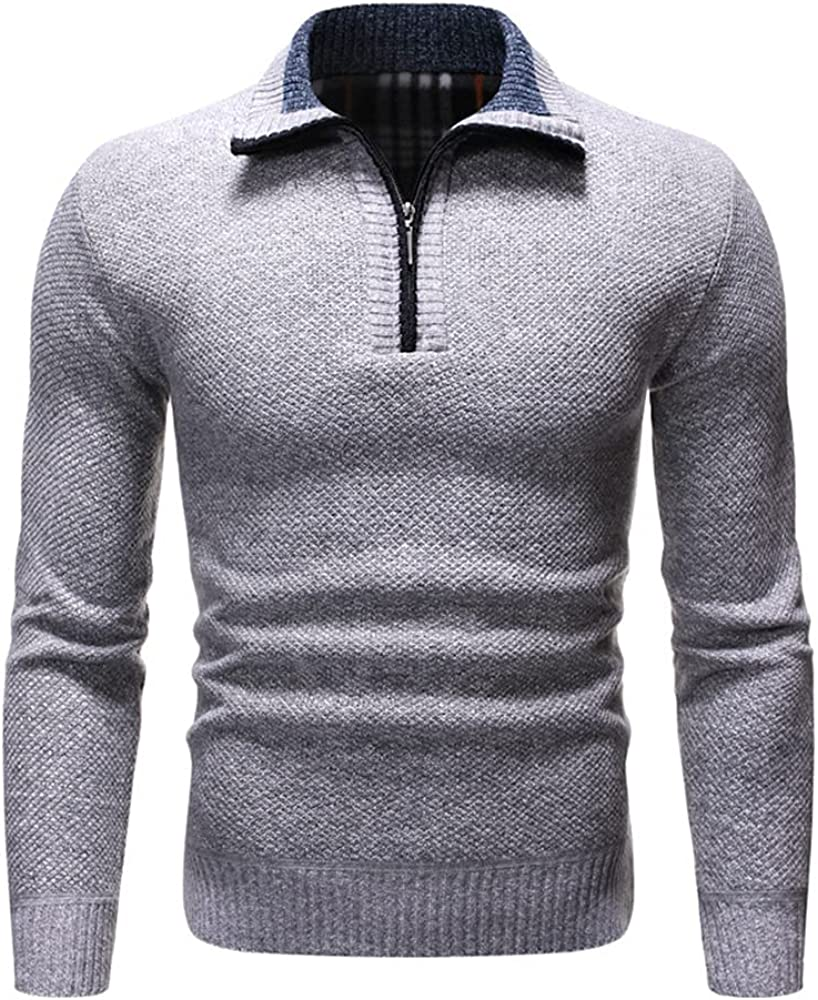 NP Men's Pullover Knitted Sweater Men Solid Casual Turtleneck