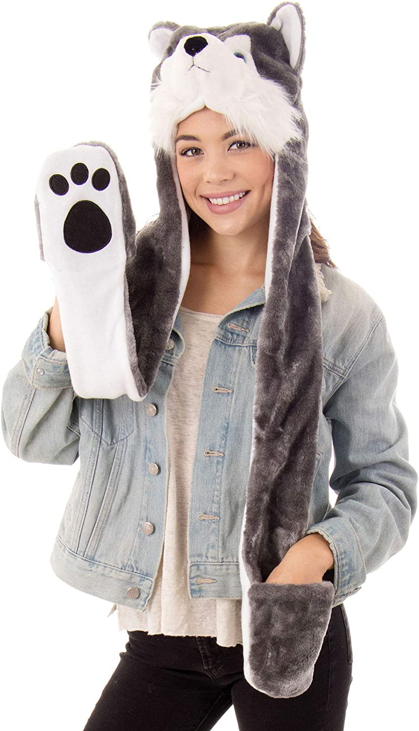 Simplicity 3-in-1 Multi-Functional Animal Scarf Hat Mitten Be super welcome Spasm price C