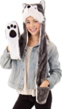 Simplicity 3-in-1 Multi-Functional Animal Hat, Scarf, Mitten Combo