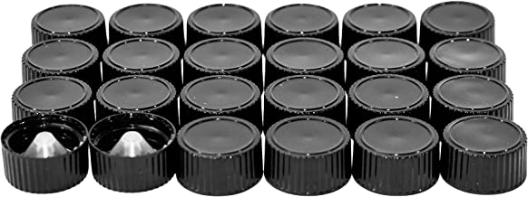 (24 Pack) Black Cone Lined Cap (20/400)