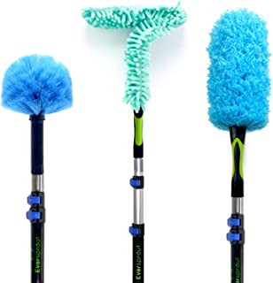 EVERSPROUT Duster 3-Pack with Extension-Pole (20+ Foot Reach) | Hand-Packaged Cobweb..