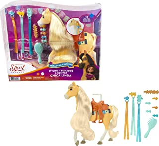 Spirit The Uncompact Miradero Chica Linda Horse Figurine Set with Long Mane to Style and Movie-Accurate Accessories, Chil...