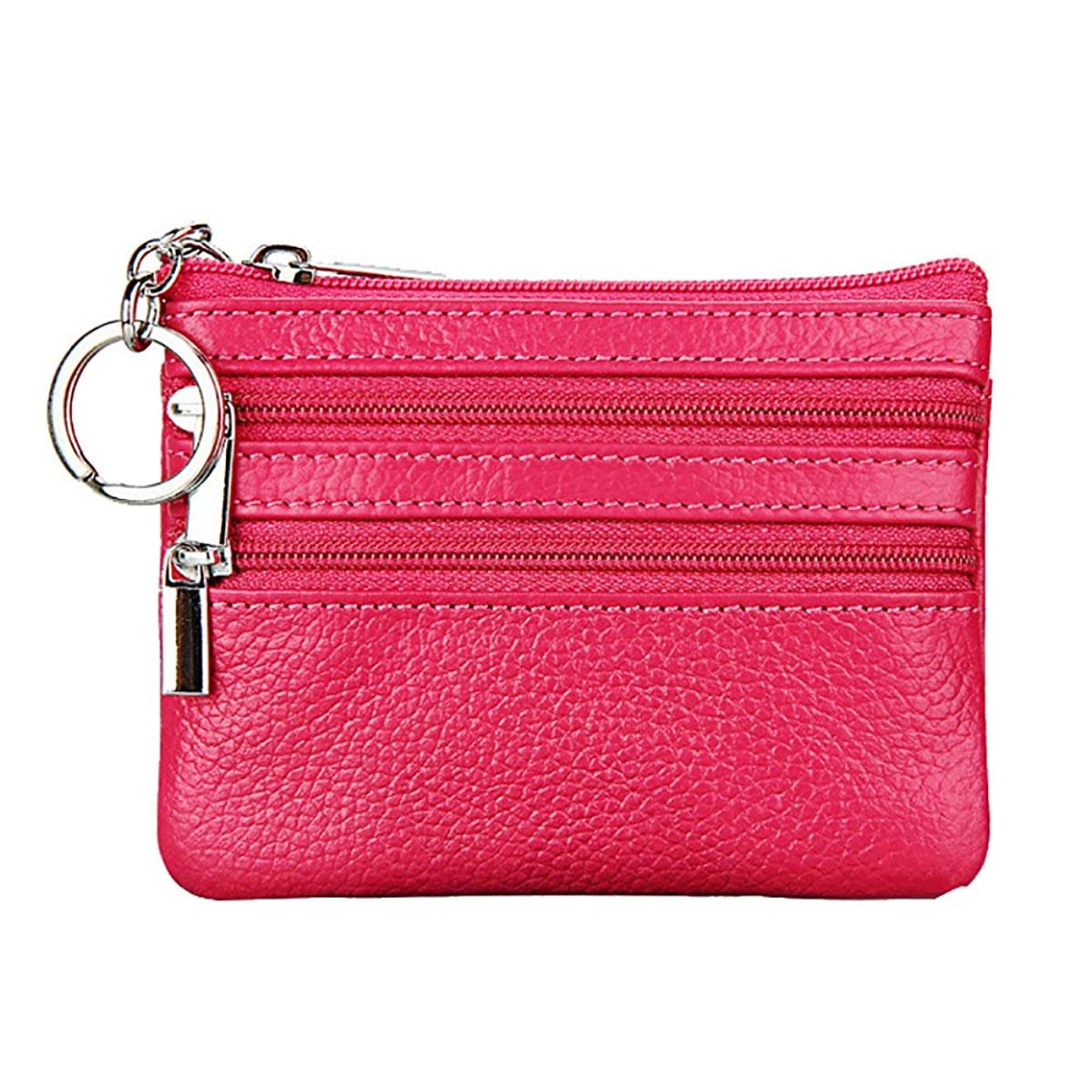 Koolsants Women's Wallets Key Leather Card Case Wallet Coin Change Purse Mini Zipper Coin