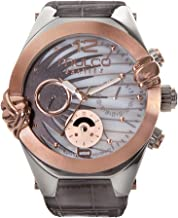 Mulco Gravity Saturn Quartz Multifunctional Movement Women's Watch | Sundial with Rose Gold and Mother of Pearl Accents | Leather Watch Band | Water Resistant Stainless Steel Watch