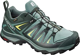 Women's X Ultra 3 GTX Hiking Shoes, ARTIC/Darkest Spruce/Sunny Lime, 9.5 Wide