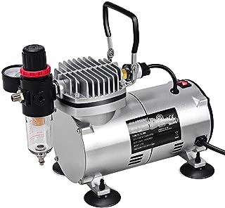Kanizz DIY Compressor Kit Dual-Action Hand Tool Spray Air Brush Set, Great For Craftsman, Hobbyist Make up, Tanning, Tattoo, Model, Fingernail Painting, Bakery