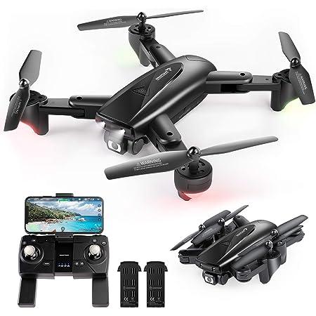 スナップテイン ドローン カメラ付き GPS搭載 200g未満 2K 110°広角HDカメラ おりたたみ式 26分飛行時間 フォローミーモード リターンモード 自動ホバリング WIFI FPVリアルタイム伝送 2.4GHz モード1/2転換可能 国内認証済みSP500J