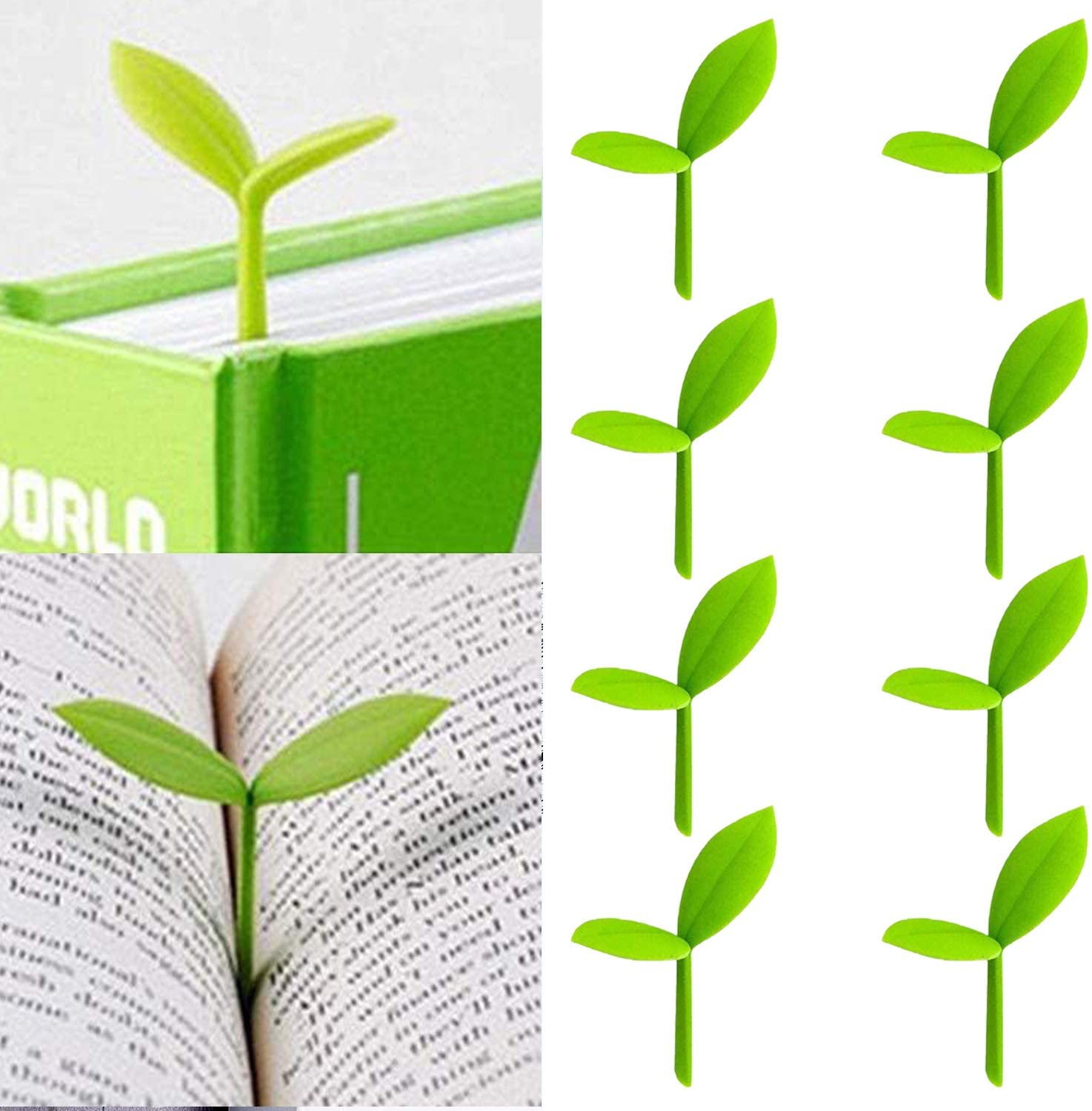 Baltimore Mall Sprout Little Green Bookmarks Buds Grass Outlet sale feature Creative Silicone