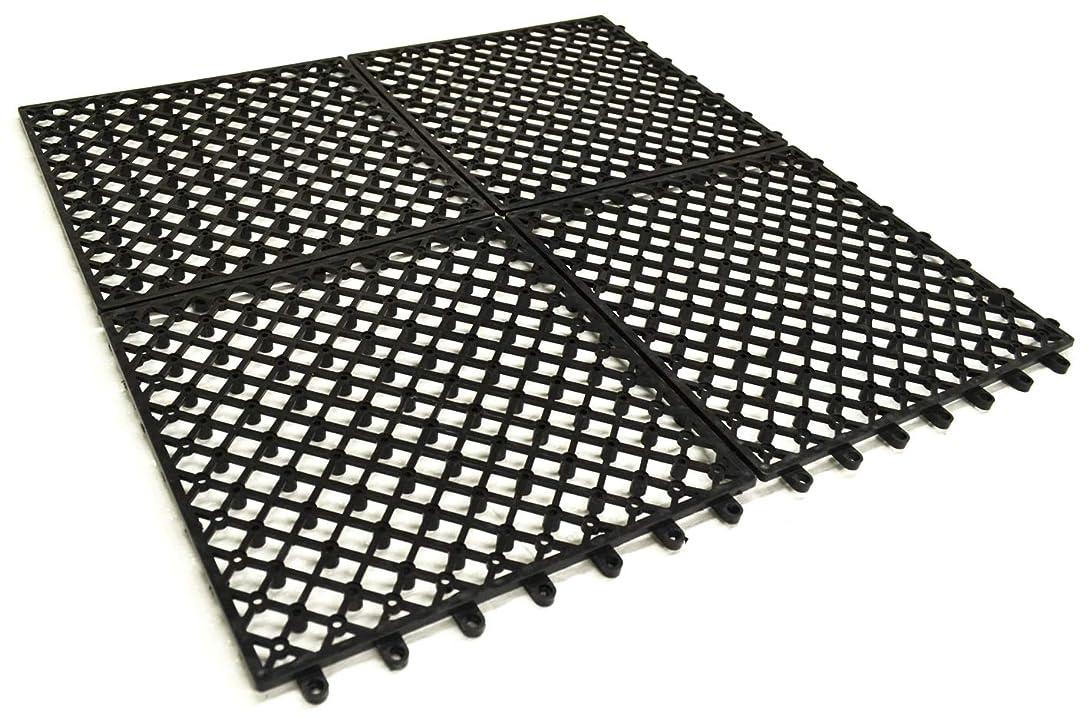 徹底的に蘇生するであることガーデンガーデン 1m幅にぴったり敷ける 人工芝用水はけ床マット 50cm×50cm 1枚単品 ジョイント式 FME-BASE0505