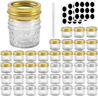Betrome 4 oz Glass Jars with Regular Lids and Bands, Mason Jar,Mini Storage Jar Canning Jars for Tea,Honey,Homemade Jam,Jelly,Baby Food,Wedding Favor,Shower Favor and More(40 Pack)