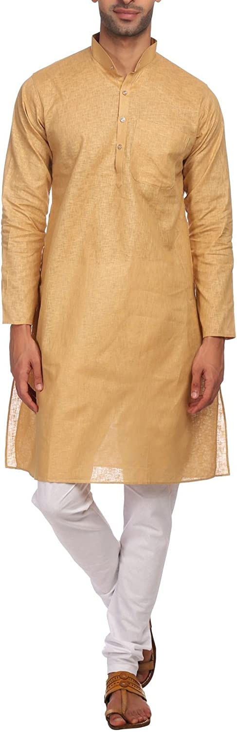 WINTAGE Men's 100% Gifts Cotton Tailored Festive Sale Indian Kurt Party Fit