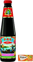 Lee Kum Kee Premium Oyster Sauce, 18-Ounce Glass Bottles (Pack of 2) plus a Free Gift Trident Gum, Tropical Twist Flavor