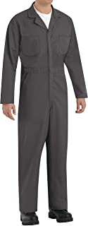 Red Kap Men's Long Sleeve Twill Action Back Coverall, Charcoal, 52