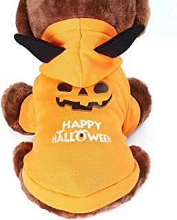 SKLOER Halloween Pet Costumes for Dogs Funny Holiday Party Dresses Soft and Breathable Cute Cats and Dogs Clothing for Sma...