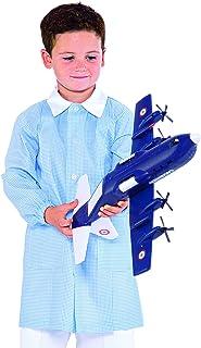 Grembiule Pollicino Isacco per asilo e scuola materna 3-6 anni (4 anni, Quadretto Azzurro)