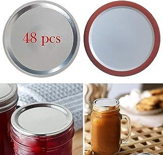 48 Pcs Mason Jar Lids Regular Wide Mouth Canning Lids Only Bulk(NOT INCLUDE BAND)