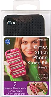 Coats: Thread & Zippers iPhone 5 Case Counted Cross Stitch Kit, Black