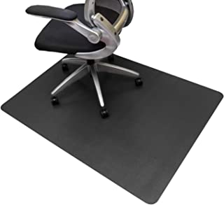 Resilia Office Desk Chair Mat – PVC Mat for Hard Floor Protection, Black, 36 Inches x 48 Inches, Made in The USA