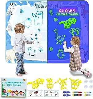 Tapis Dessin Enfant, Barley Direct Tapis doodle fluorescents du Grand Size 120*90cm,Peut Accroché au Mur, Tapis Dessin Eau...