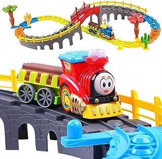 子供のおもちゃのビルディングブロック教育玩具トラック列車の組み合わせ(新旧の包装ランダム配信)