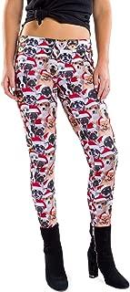 Women's Dog Christmas Leggings - Cute Xmas Dog Leggings Ugly Sweater Outfit Item