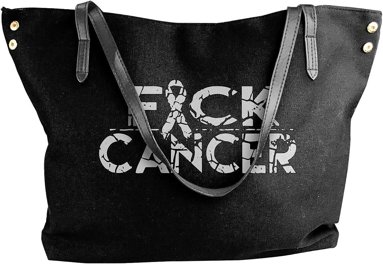 Fuck Cancer 1 Women'S Recreation Canvas Shoulder Bag For Work Shoulder Tote