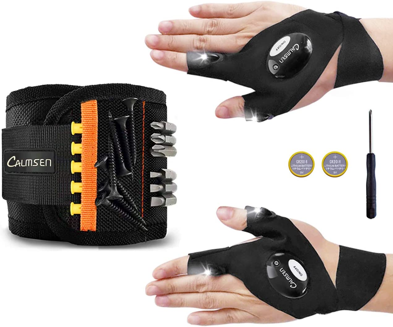Calmsen Magnetic Wristband with 1 Pair Gloves New wholesale arrival - LED Flashlight p