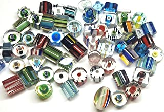 Chinese Cane Glass Beads - Assorted Colors & Designs