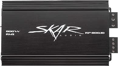 Skar Audio RP-800.1D Monoblock Class D MOSFET Amplifier with Remote Subwoofer Level Control, 800W